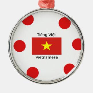 Ornamento De Metal Língua e design vietnamianos da bandeira de