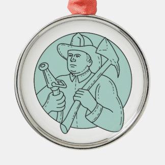 Ornamento De Metal Linha do círculo da mangueira do machado do