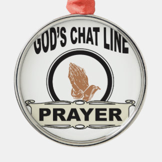 Ornamento De Metal linha oração do bate-papo dos deuses