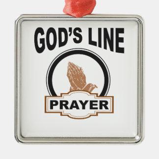 Ornamento De Metal linha oração dos deuses