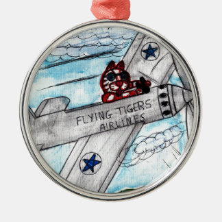 Ornamento De Metal Linhas aéreas de Flying Tigers