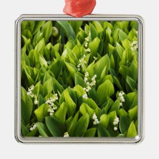 Ornamento De Metal Lírio do remendo da flor do vale
