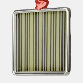 Ornamento De Metal Listra dobro preta de tiquetaque do colchão Khaki
