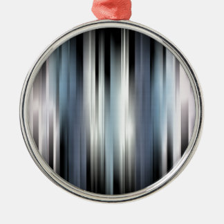 Ornamento De Metal Listras abstratas coloridas