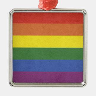 Ornamento De Metal Listras do arco-íris