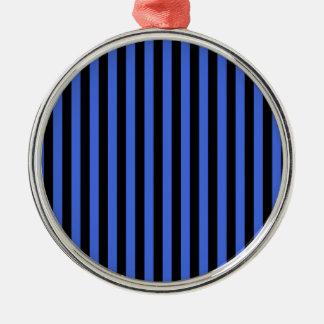 Ornamento De Metal Listras finas - preto e azuis marinhos