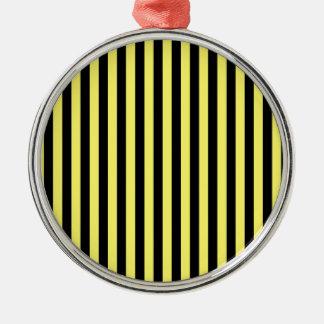 Ornamento De Metal Listras finas - preto e limão