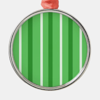 Ornamento De Metal Listras verdes loucas