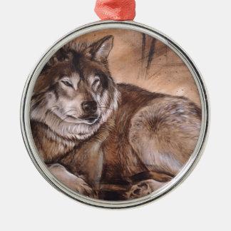 Ornamento De Metal Lobo