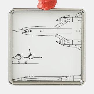 Ornamento De Metal Lockheed_YF-12A_3view