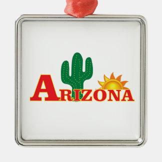 Ornamento De Metal Logotipo da arizona simples