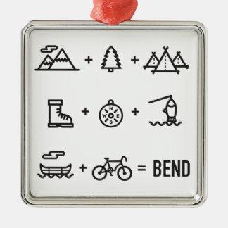 Ornamento De Metal Logotipo da equação das atividades de Oregon da