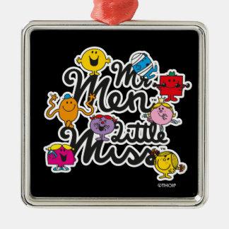 Ornamento De Metal Logotipo do grupo do Sr. Homem Pequeno senhorita |