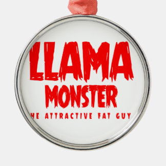 Ornamento De Metal Logotipo do vermelho do monstro do lama