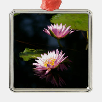 Ornamento De Metal Lotus roxo cor-de-rosa Waterlilies
