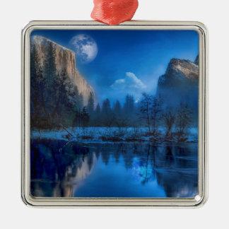 Ornamento De Metal Lua cheia em Yosemite