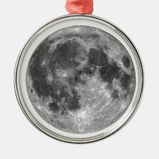 Ornamento De Metal Lua cheia vista com telescópio