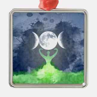 Ornamento De Metal Lua da deusa de Mãe Terra de Wiccan