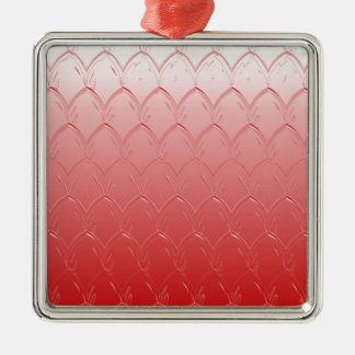 Ornamento De Metal Luz à obscuridade - escalas do vermelho