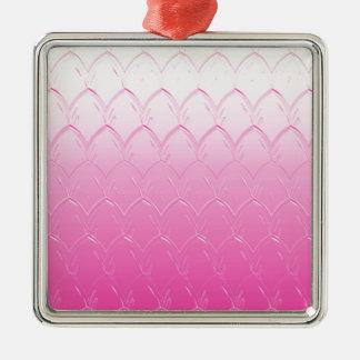 Ornamento De Metal Luz às escalas cor-de-rosa escuras