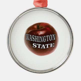 Ornamento De Metal Maçã do vermelho do estado de Washington