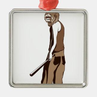 Ornamento De Metal macaco humano com vara