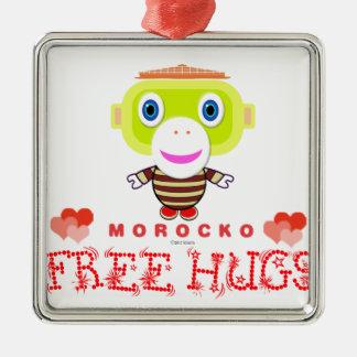 Ornamento De Metal Macaco-Morocko Abraço-Bonito livre