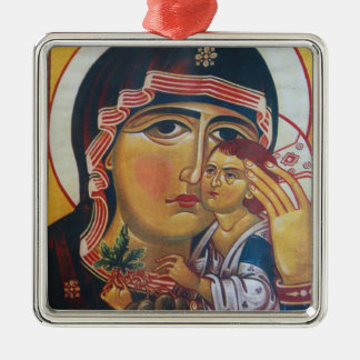 Ornamento De Metal Mãe Mary e arte de Jesus