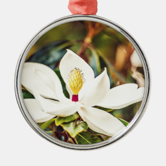 Ornamento De Metal Magnólia na flor