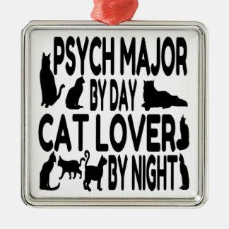 Ornamento De Metal Major de Psych do amante do gato