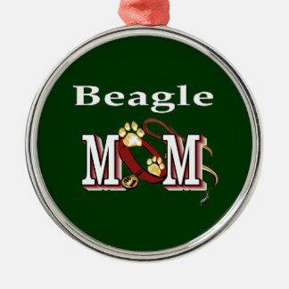 Ornamento De Metal Mamã do cão do lebreiro