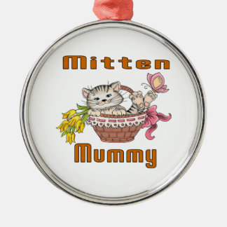 Ornamento De Metal Mamã do gato do mitene