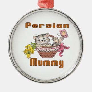 Ornamento De Metal Mamã do gato persa