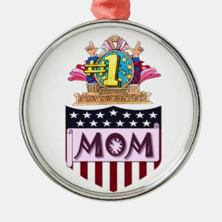 Ornamento De Metal Mamã do número um