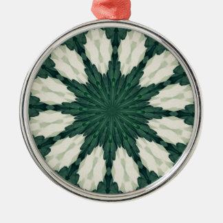 Ornamento De Metal Mandala. da folha verde e de prata de Sacramento