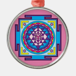 Ornamento De Metal Mandala de Sri Yantra