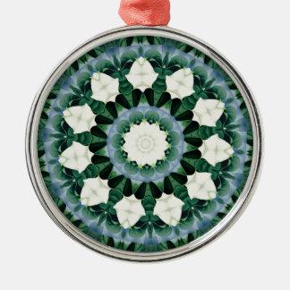 Ornamento De Metal Mandala do azul verde e Cerulean de Sacramento