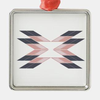Ornamento De Metal Mandala do design em Ethno branco