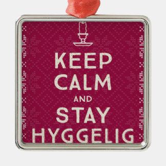 Ornamento De Metal Mantenha calmo e estada Hyggelig