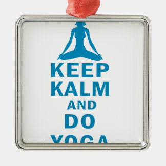 Ornamento De Metal mantenha calmo e faça a ioga