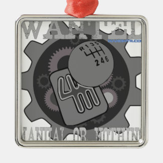 Ornamento De Metal manual querido ou nada (caixa de engrenagens)