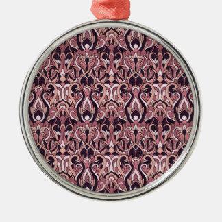 Ornamento De Metal Mão abstrata teste padrão tirado. Cor roxa