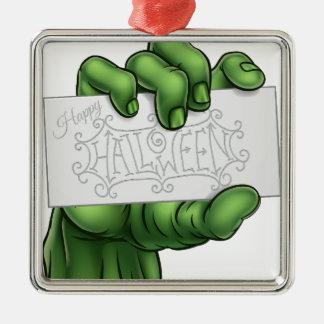 Ornamento De Metal Mão do monstro do zombi que guardara o sinal feliz
