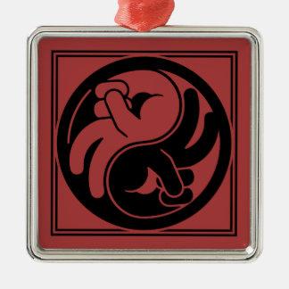 Ornamento De Metal Mão Yin Yang da paz