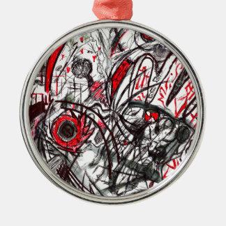 Ornamento De Metal Mãos do desenho da caneta da raiva