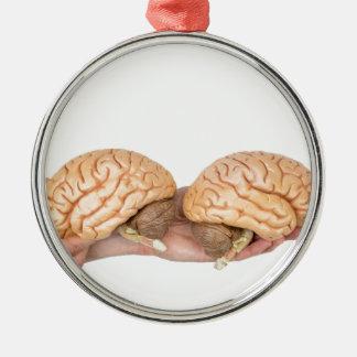 Ornamento De Metal Mãos que guardaram o cérebro humano modelo no