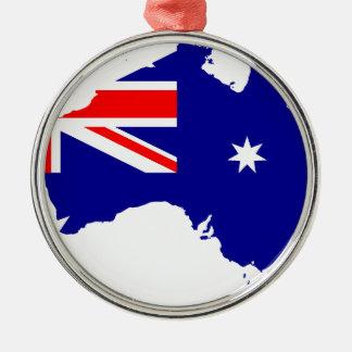 Ornamento De Metal Mapa australiano da bandeira