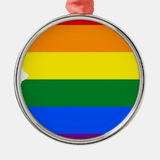Ornamento De Metal Mapa da bandeira da arizona LGBT