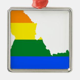 Ornamento De Metal Mapa da bandeira de Idaho LGBT