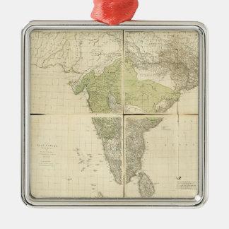 Ornamento De Metal Mapa das Índias do leste com as estradas (1768)